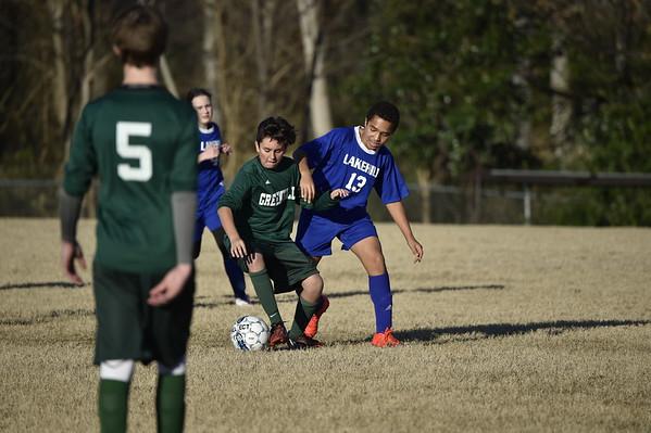 MS Soccer vs Greenhill 1.19.17