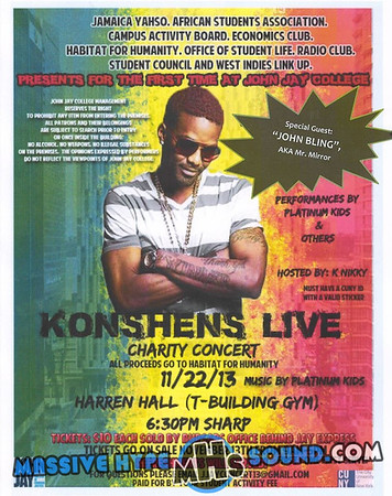 Konshens & John Bling-Live-Charity Concert at John.Jay College (11.22.13)