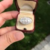 1.64ctw Vintage Princess Style Oval Cluster Ring 12