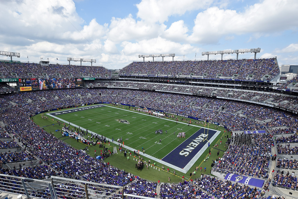 . The Baltimore Ravens and Cleveland Browns battle in M&T Bank Stadium during the first half of an NFL football game against in Baltimore, Sunday, Sept. 17, 2017. (AP Photo/Nick Wass)
