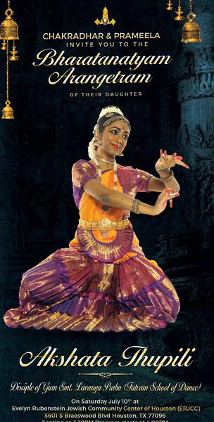 Akshata Thupili's Bharatanatyam Arangetram 2021