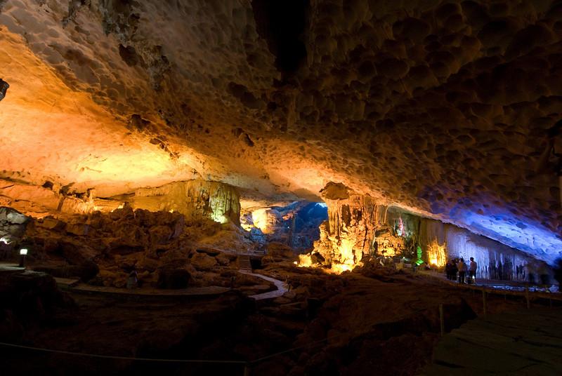 Natural cave formation in Ha Long Bay, Vietnam