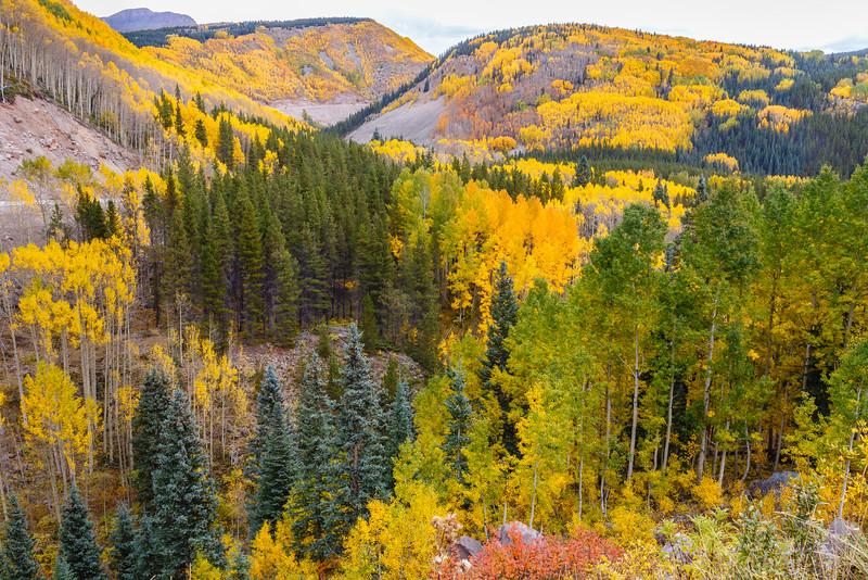 An Autumn view from the Million Dollar Highway, near Deep Creek