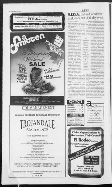 Daily Trojan, Vol. 153, No. 63, November 22, 2004