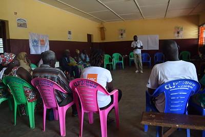 Community dialogue organized by NRC funded by UNHCR