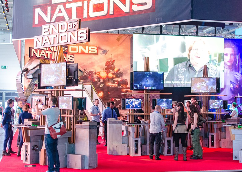 End of Nations booth @ Gamescom 2012