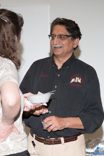 "Mansoor Ahmed with Jennifer Wiseman -- Retirement party for Robin ""Tuck"" Stebbins, NASA/GSFC, May 20, 2016"