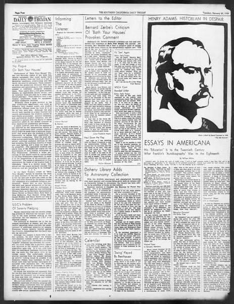 Daily Trojan, Vol. 29, No. 74, January 25, 1938