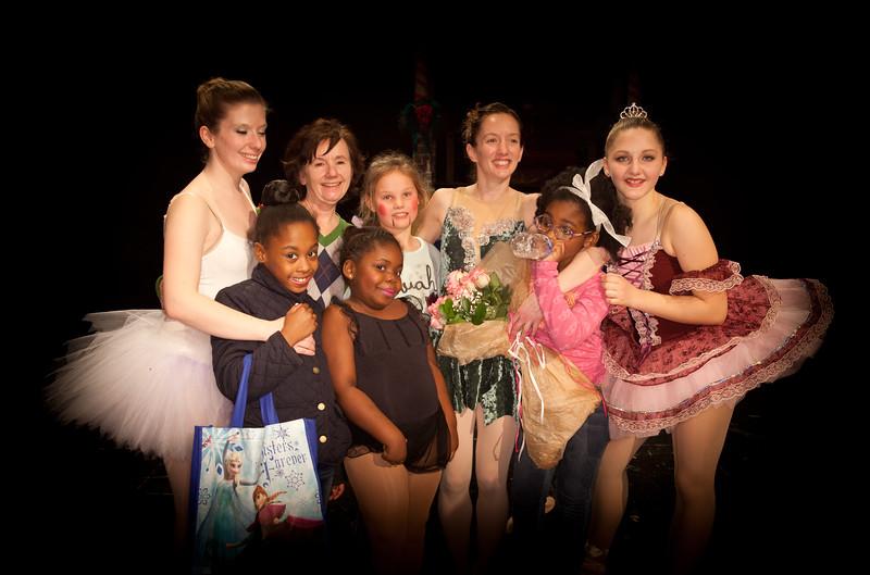 4 Jenni Hanke Pro dancer Pulse Studio owner surrounded by her students after Nutcracker Weber2015.jpg