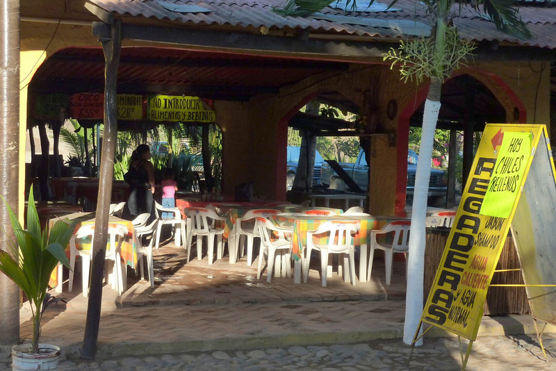 Chacala scenes. All of the restaurants we went to were open air like this, though we only ate at the ones on the ocean.