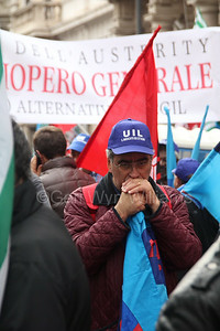 General Strike Rally against government austerity cuts in Rome Italy