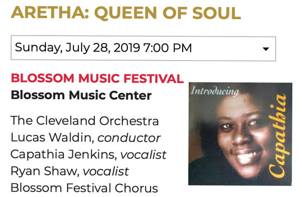Blossom - Aretha Franklin,The Queen of Soul,  Sun., July 28, 2019