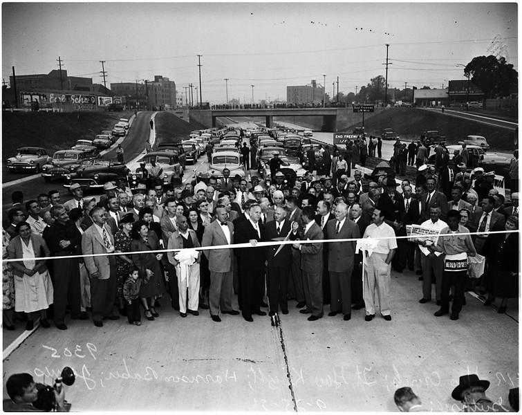 Hollywood Freeway Opening Ceremony