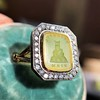'Faithful & Firm' Yellow Chalcedony Ring, by Seal & Scribe 25