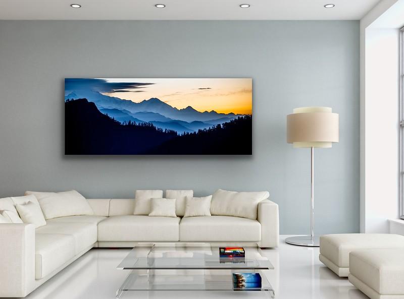 'Himalayan Sunrise' Canvas Wrap or Float Mount Metal Print