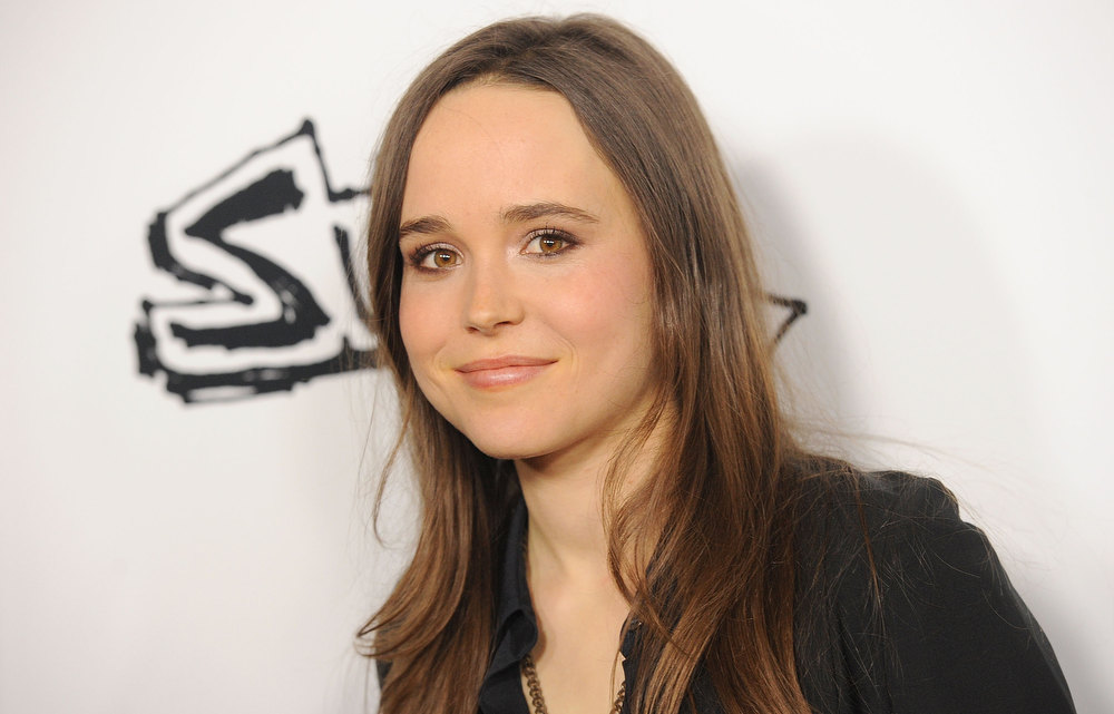 Description of . Actress Ellen Page arrives at the premiere of IFC Midnight's 'Super' at the Egyptian Theatre on March 21, 2011 in Hollywood, California.  (Photo by Jason Merritt/Getty Images)