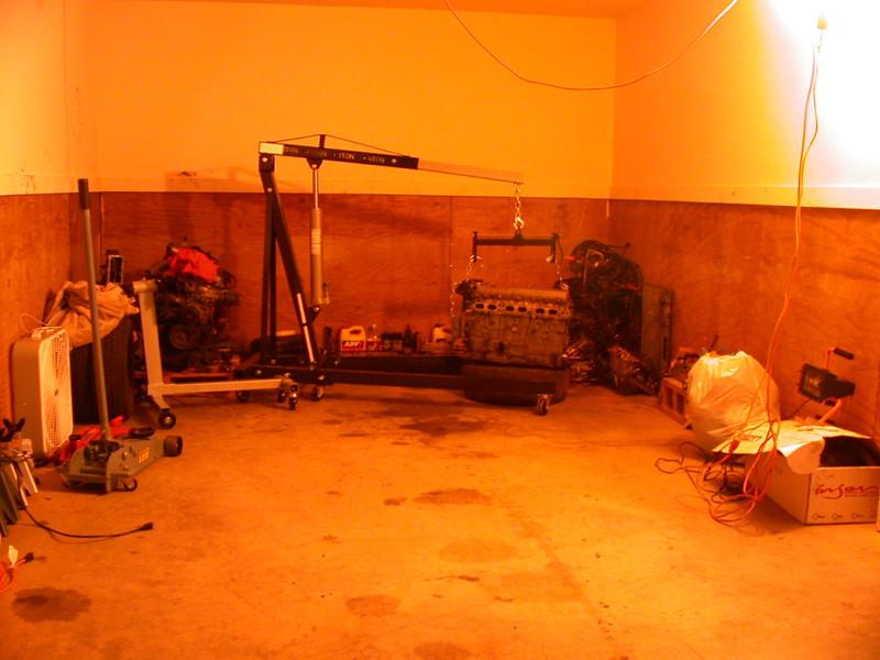 russell's garage (ahh, a flat floor!)