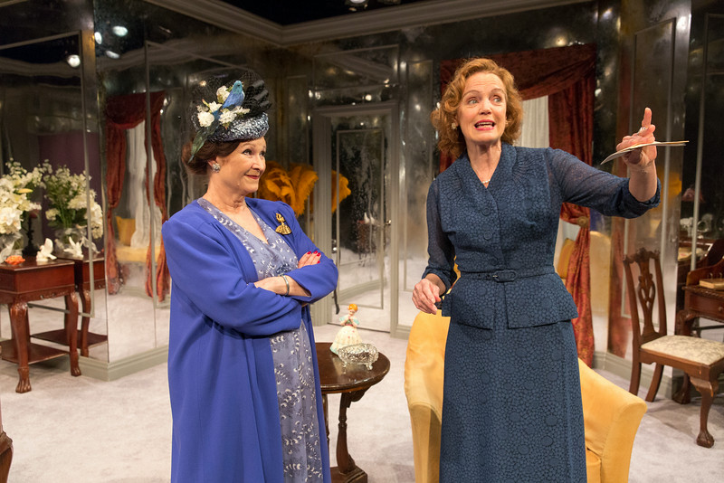 Cynthia Darlow and Kristin Griffith in THE FATAL WEAKNESS by George Kelly. Photo: Richard Termine