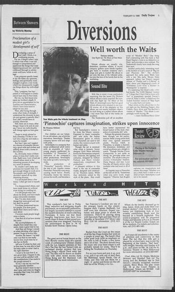 Daily Trojan, Vol. 127, No. 20, February 09, 1996