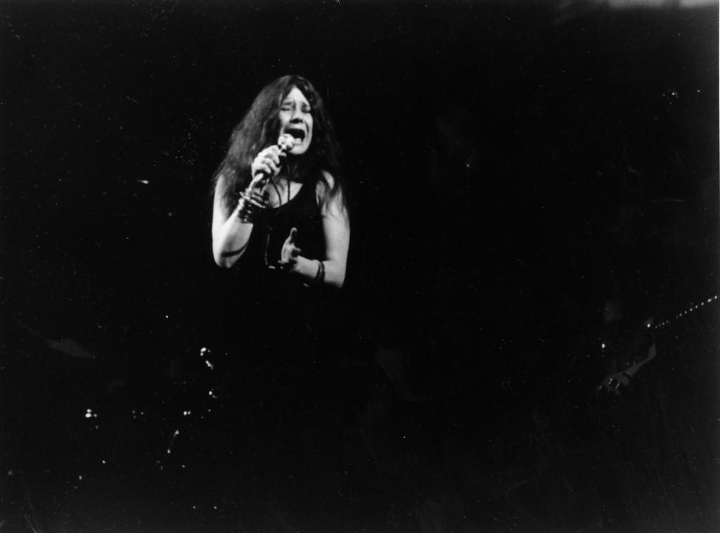 . Folk-rock singer Janis Joplin performs in Dec. 1969 at an unknown location. (AP Photo)
