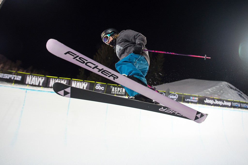 . Annalisa Drew of the United States practices in the Ski Superpipe at Winter X Games 2016 Aspen at Buttermilk Mountain on January 27, 2016, in Aspen, Colorado. (Photo by Daniel Petty/The Denver Post)