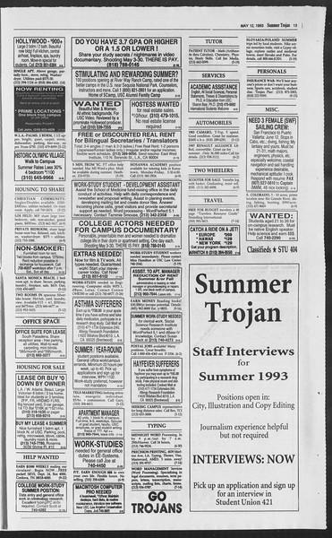 Summer Trojan, Vol. 120, No. 1, May 12, 1993