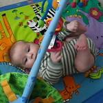 Baby Quinn playin on mat 2