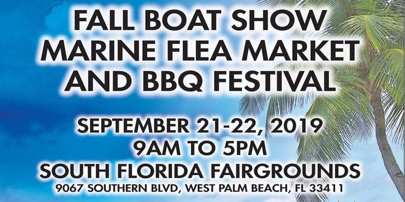 Annual Boat Show at the Palm Beach Fairgrounds - Sept 21, 2019