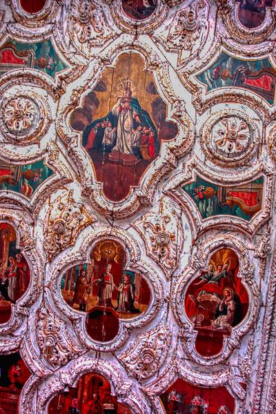 Church in Olinda ceiling