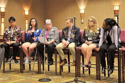 060117 Orane Sara and Winn - Youth Exchange Featured Topeka DownTown Rotary Meeting