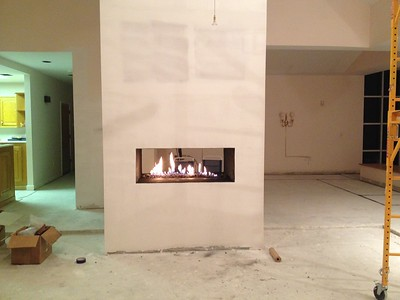 Custom Fireplace and 250 gallon tank. Coral Gables, FL