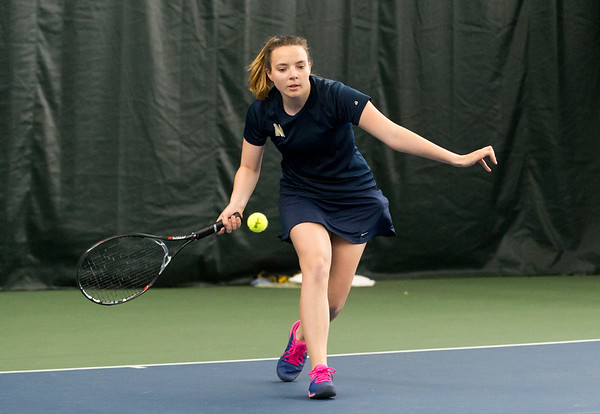 04/26/19 Wesley Bunnell | Staff Newington girls tennis vs Maloney on Friday afternoon at the Newington Tennis Center. Olivia Rozio in her #1 match.