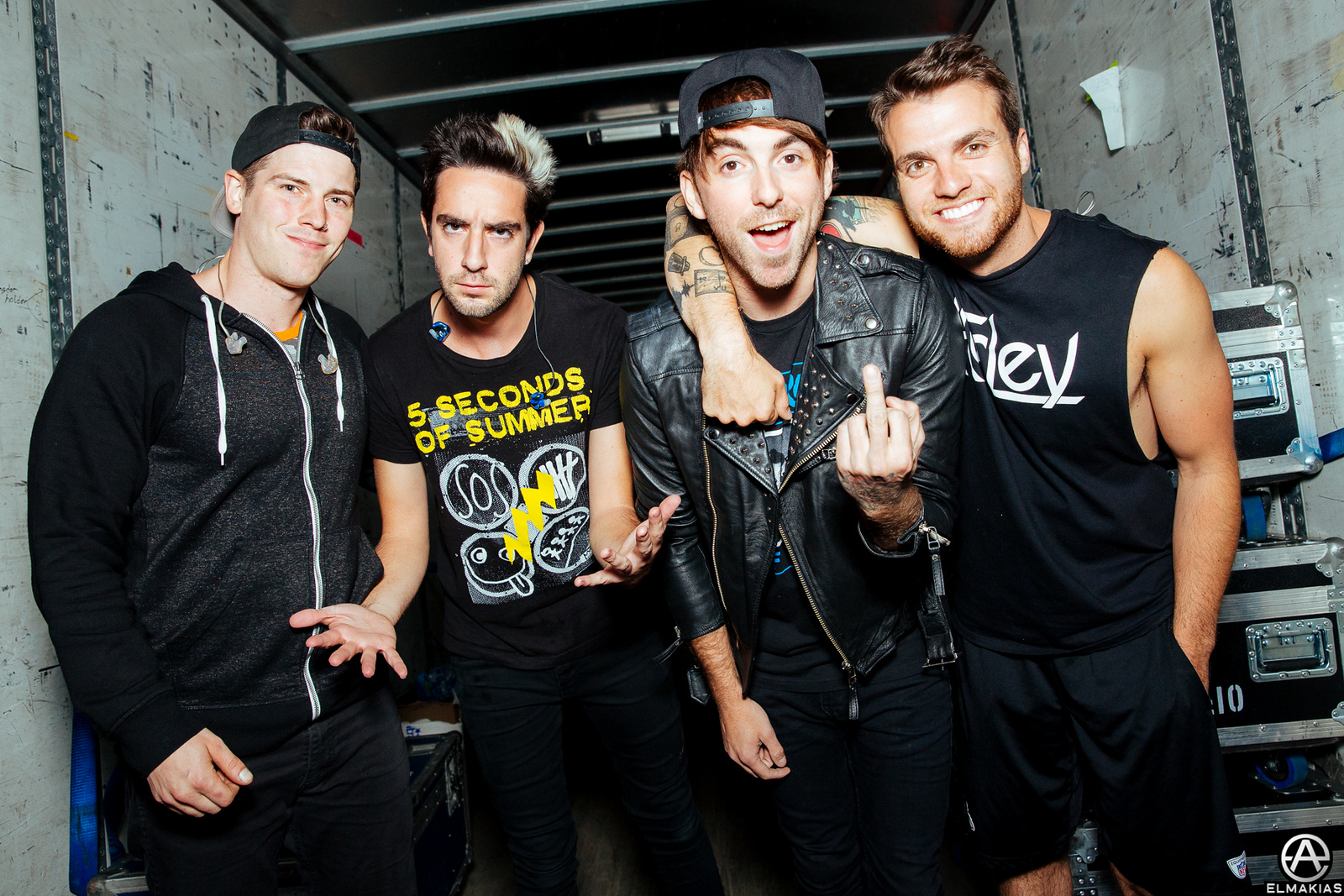 All Time Low before their set on The Future Hearts Tour by Adam Elmakias