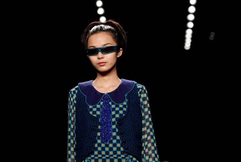 . The Anna Sui Fall 2013 collection is modeled during Fashion Week, Wednesday, Feb. 13, 2013 in New York. (AP Photo/Jason DeCrow)