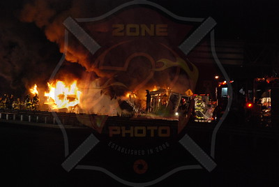 Syosset F.D. MVA w/ Overturned Tractor Trailer and Fire LIE at Exit 43 11/5/09