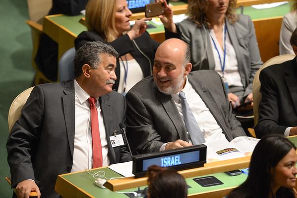 Minister Amir Peretz at the UN GA 2014