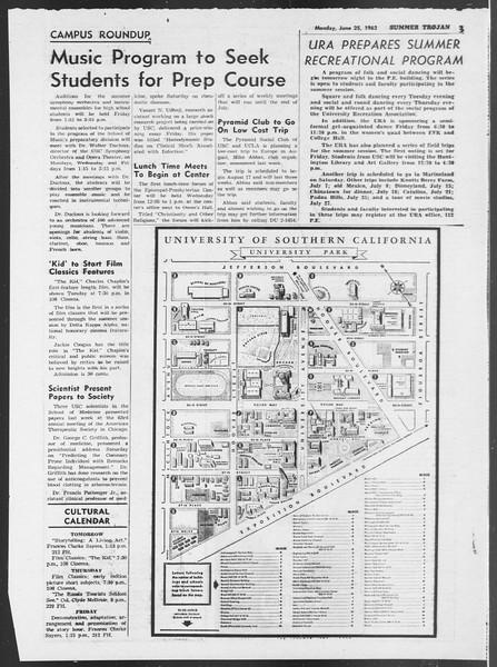 Summer Trojan, Vol. 12, No. 1, June 25, 1962