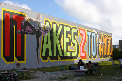 Street Art in Wynwood, downtown Miami, Dec. 4, 2011
