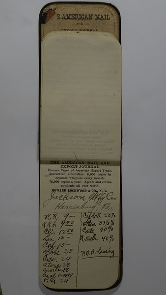 1889 AC Stebbins Expense Book