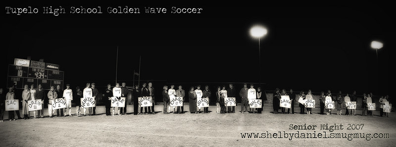 Tupelo High School Soccer Senior Night