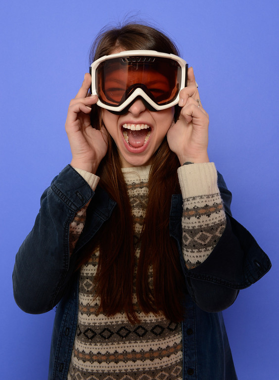 . Actress Melissa Benoist poses for a portrait during the 2014 Sundance Film Festival at the Getty Images Portrait Studio at the Village At The Lift on January 17, 2014 in Park City, Utah. Winter sports gear courtesy of Destination Sports & Adventures, Park City.  (Photo by Larry Busacca/Getty Images)