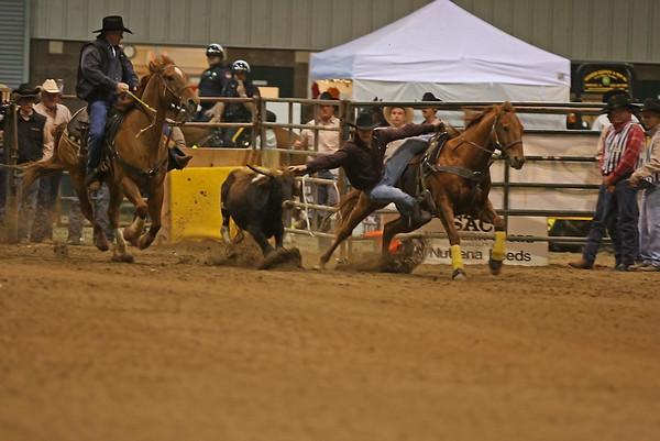SLHSRA Steer Wrestling  02/23/2007