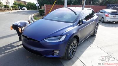 2018 Tesla Model X - Deep Blue Metallic - Stealth Wrap