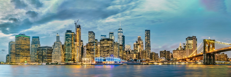 New York City Panorama at Dusk