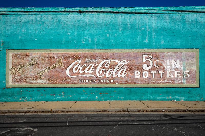 GA, Ft. Gaines - Coca-Cola Wall Sign 02