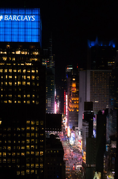 View from the Club Room at the Sheraton Times Square