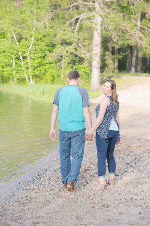 Clear Lake day use area Engagement Photography Northern Michigan