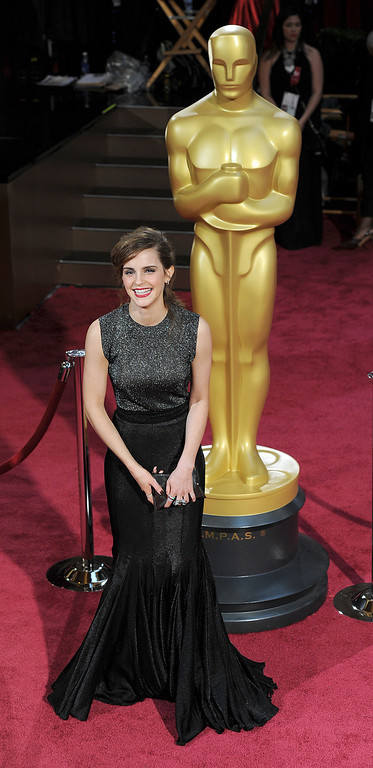 . Emma Watson attends the 86th Academy Awards at the Dolby Theatre in Hollywood, California on Sunday March 2, 2014 (Photo by John McCoy / Los Angeles Daily News)