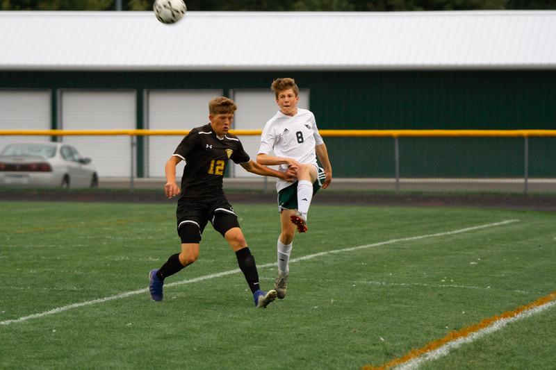Holy Family Boys Varsity Soccer vs. Hutchinson, 9/26/19: Joseph Maher '23 (8)