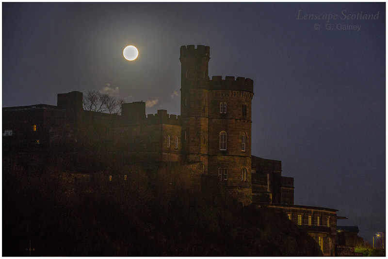 full moon over Old Calton Jail